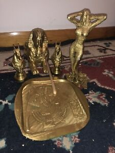 Cleopatra Incense Burner Kit-painted Gold! LOOK! (with Slight Flaws) AWESOME!!!