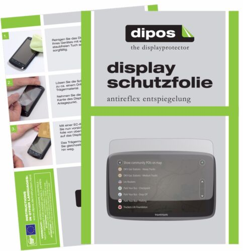 3x TomTom Go Professional 6250 Schutzfolie matt Displayschutzfolie Folie Display
