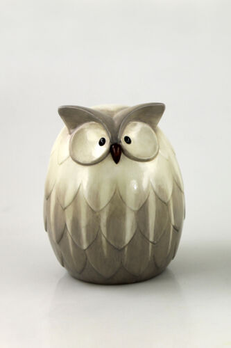 Keramik Eule Dekoration Figur Skulptur Flur Tisch-Fensterdeko 23175 Uhu Braun