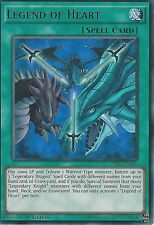 3 X YU-GI-OH ULTRA RARE CARD: LEGEND OF HEART - DRL3-EN046 - 1st EDITION