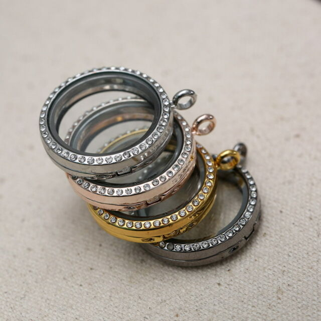 New Floating Charm Living Memory Round Glass Locket Charms Pendant Necklace