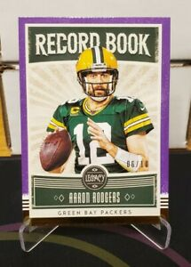 Aaron-Rodgers-Record-Book-Violet-10-2020-Panini-Legacy-Green-Bay-Packers-QB