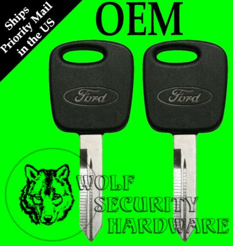 Lot of 2 Ford F150 99-04 Heritage OEM PATS Transponder Electronic Chip Key Blank
