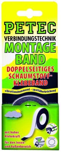 12mm Petec Zierleisten Montageband Doppelseitiges Klebeband Schaumstoff Tape KFZ
