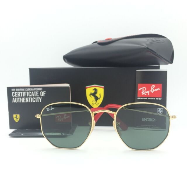 595ac04d90 Ray Ban Ferrari Icon Sunglasses Rb3548nm F008 31 Gold Frame Green ...