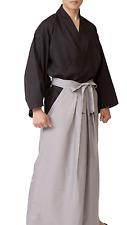 Japanese Men's Kimono Samurai Bushi Ronin Cosplay costume Jacket Hakama Set