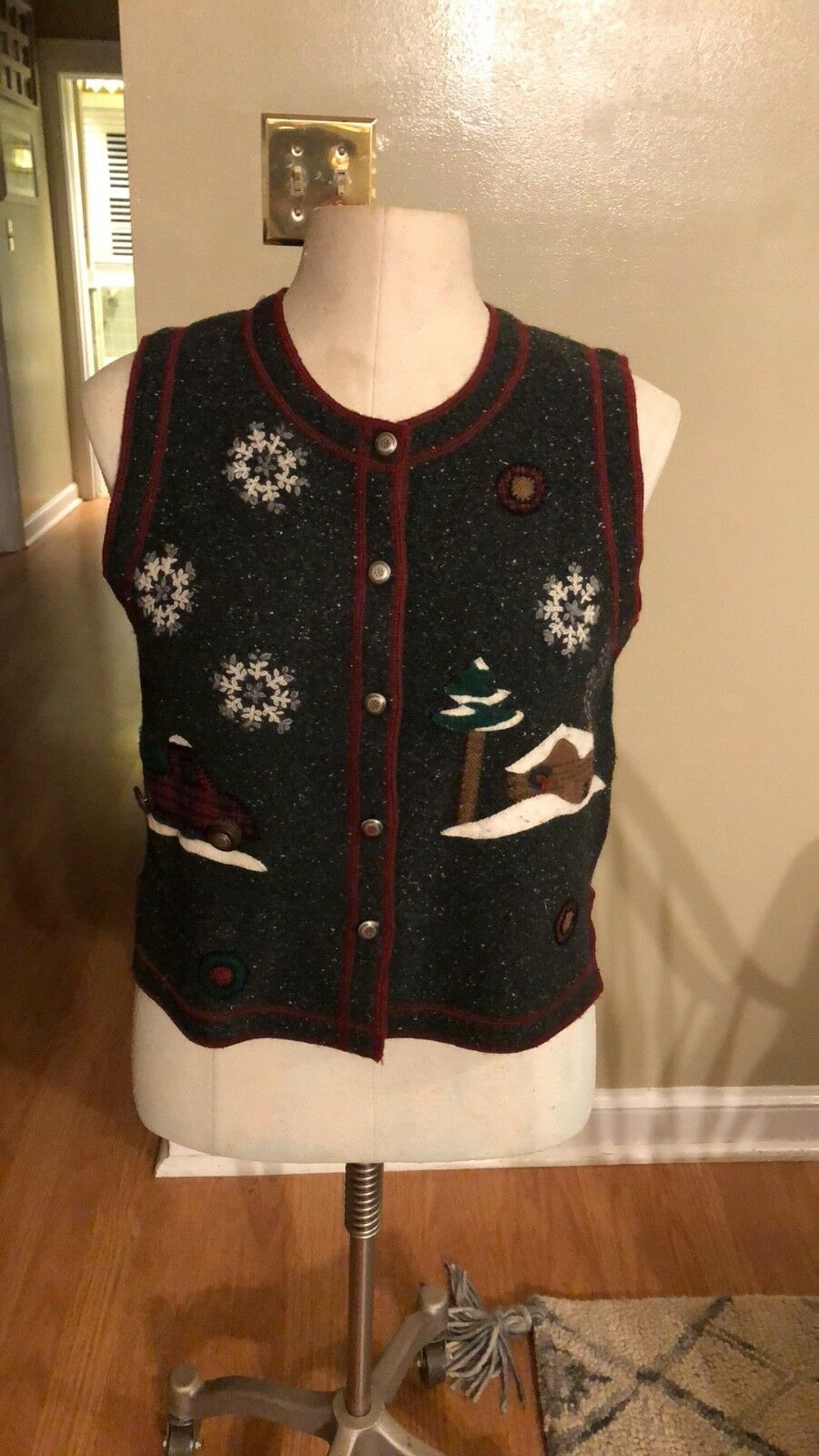 Woolrich  Bringing home the tree  wool vest S