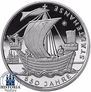 Deutschland-10-Euro-650-Jahre-Staedtehanse-2006-Silber-Gedenk-Muenze-Spiegelglanz