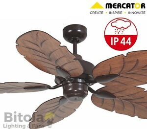 NEW-MERCATOR-COOYA-IP44-OUTDOOR-RATED-CEILING-FAN-5-BLADE-BROWN-FC190135BR