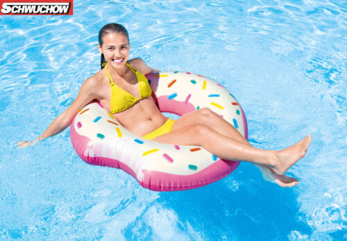 Intex Donut Tube Reifen Schwimmring Lounge Luftmatratze Pool Bestway 107 x 99 cm
