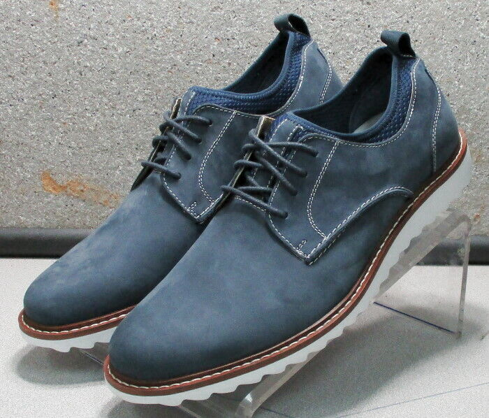 5910837 MS50 Chaussures Hommes Taille 11 m bleu lacets en cuir Johnston & Murphy