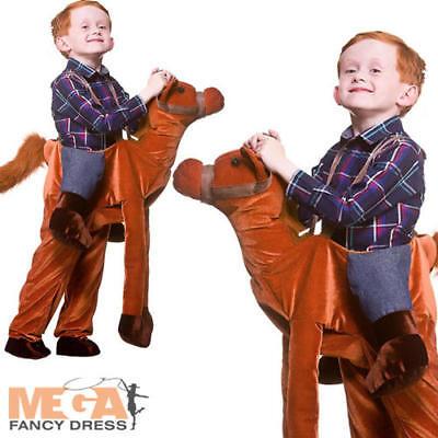 Deluxe Ride On Cavallo Bambini Costume Novità Animale Ragazzi Ragazze Costume Outfit-mostra Il Titolo Originale Possedere Sapori Cinesi