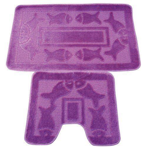 Soft Beautiful 2Pc Non Slip 100/% Latex Back Bath And Pedestal Mat Set