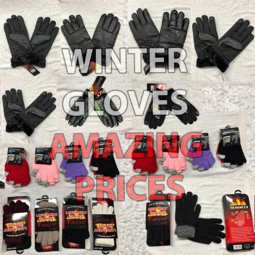 Winter Gloves Men Women Children Thick Warm Full Finger Thermal Outdoor