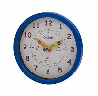 Unity Henley Children's Learn The Time Wall Clock 10-inch Blue Free Shipping