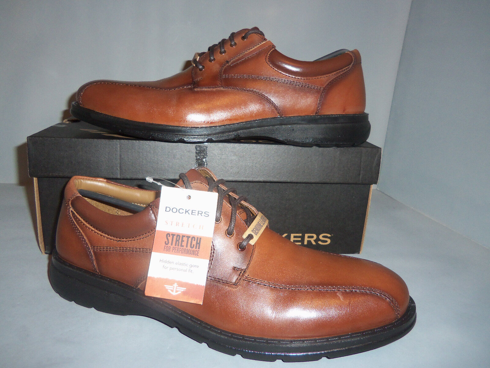 Dockers Trustee Men's Dress shoes Brown LEATHER NIB NEW SIZES  Casual Dress