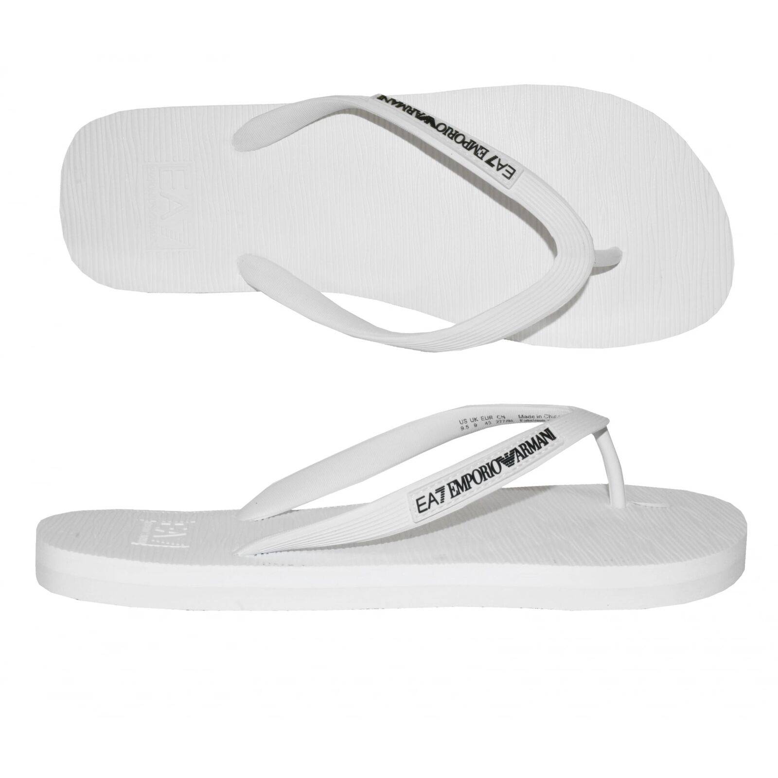 Emporio Armani EA7 Clásico Flip Flop, blancoo