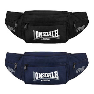 Lonsdale-Bumbag-Belt-Bag-Hip-Waist-Pouch-Pack-with-side-pockets-Black-or-Blue