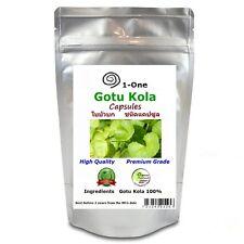 Gotu Kola 180 Capsules @500 mg  Centella asiatica Herb Organic Pure Thailand