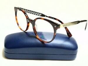 1af58896f5db New Authentic LACOSTE L2806 214 Tortoise Silver 50 20 140 Eyeglasses ...