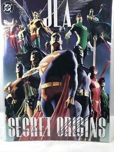 JLA-SECRET-ORIGINS-DC-Comics-Treasury-Signed-ALEX-ROSS-amp-PAUL-DINI-166-499
