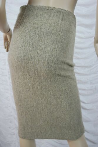 Pencil Zara Knit S Tube Taglia Blend Bnwt Mohair vita a alta Beige Gonna Bqq8w1