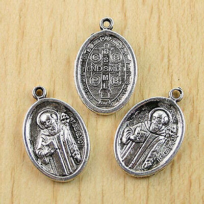10pcs Tibetan Silver saint benedict religious charms   H0533