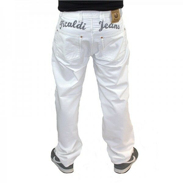 Picaldi Zicco 472 Jeans Whitegrey Saddle Carred Fit White with Letters Berlin