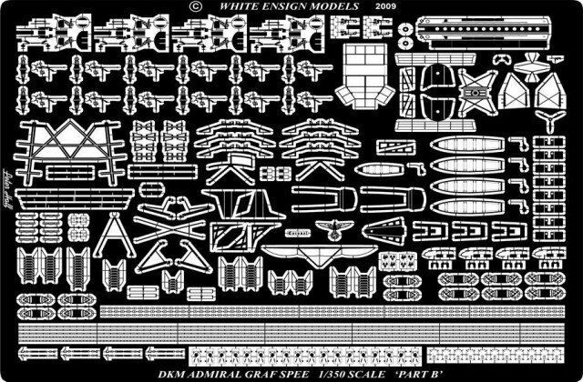 White Ensign Models 1 350  PE35126 German Graf Spee Detail for Academy Trumpeter