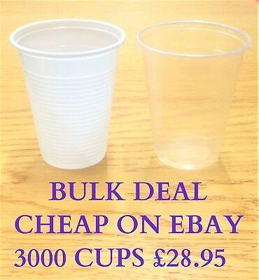 Jetable Tasses 200 ml Vending style Cup 180cc environ 198.44 g 500-1000 Blanc//Plastique Transparent 7 oz