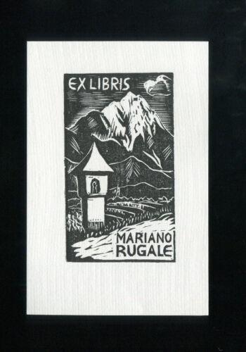 EXLIBRIS,040a Berge Bildstock Izidor Mole mountains