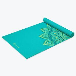 Gaiam Premium Yoga Mat Stabilizing Grip 5mm Extra Thick Light Green New Ebay