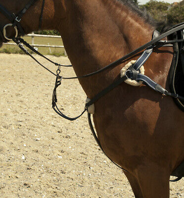 Windsor Leather Breastplate With Running Martingale Attachment Full Cob