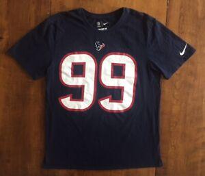 best website 7faba 493ad Details about Mens NIKE JJ WATT Number 99 SHORT SLEEVE T SHIRT NFL Houston  Texans BLUE Large