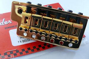 NUEVO-Puente-FENDER-STRATOCASTER-0059561000-MIM-oro-para-guitarra