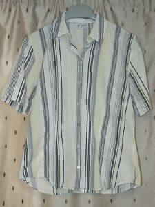 Basler-Ladies-Striped-Short-Sleeve-Cotton-Blouse-Size-12