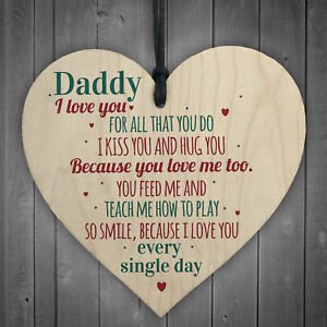 daddy i love you wood heart father s day gifts for him dad daughter