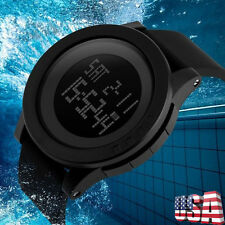 Waterproof Diving Men Army Digital Stainless Steel Chronograph Date Wrist Watch
