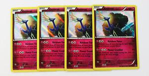 4x-Xerneas-107-162-Holo-Rare-Pokemon-TCG-XY-avance-Raro-Conjunto-de-Juego-de-4