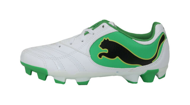 PUMA Power Cat Juniors//Youths Black Soccer Cleats