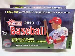 2019 Topps Heritage Baseball Factory Sealed Hobby Box