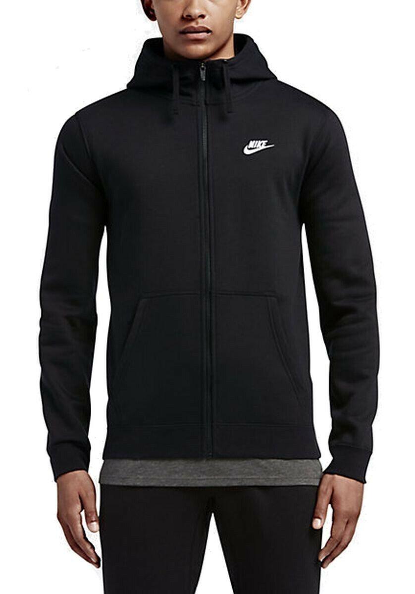 Nike señores Sport-tiempo libre-Sospechosovarón club full ZIP hoody negro