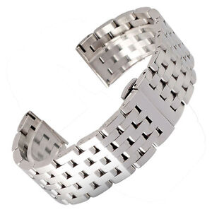 20-22mm-Silver-Stainless-Steel-Bracelet-Watch-Band-Strap-High-Quality-Watchband
