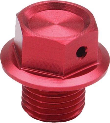 ZETA anodized RED billet oil drain plug bolt magnetic Yamaha WR450F 2004-2011