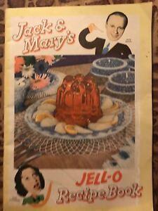 Jack and Mary's Jell-O Recipe Book Retro Vintage Jack Benny Mary Livingstone