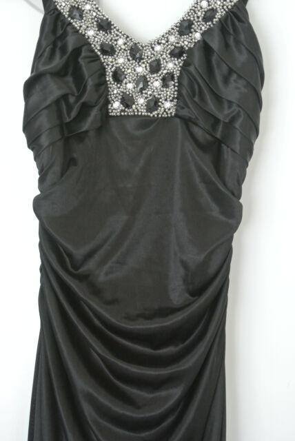 Charlotte Russe Long Black Satin Formal Dress Size 2 100 New On