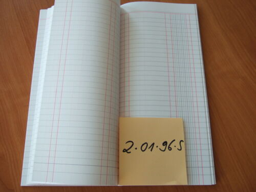 40172S 4-01-72-S HIG Spaltenbuch Haushaltsbuch Kladde 1 Spalte 72 Blatt  Nr