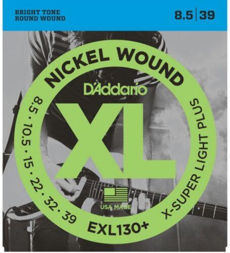 3 Sets D/'Addario EXL130 Electric Guitar Strings Extra Super Light Plus 8.5