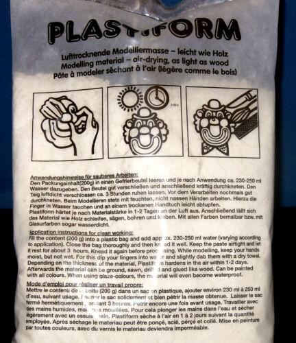Plastiform holzähnlich unzerbrechliche Modelliermasse