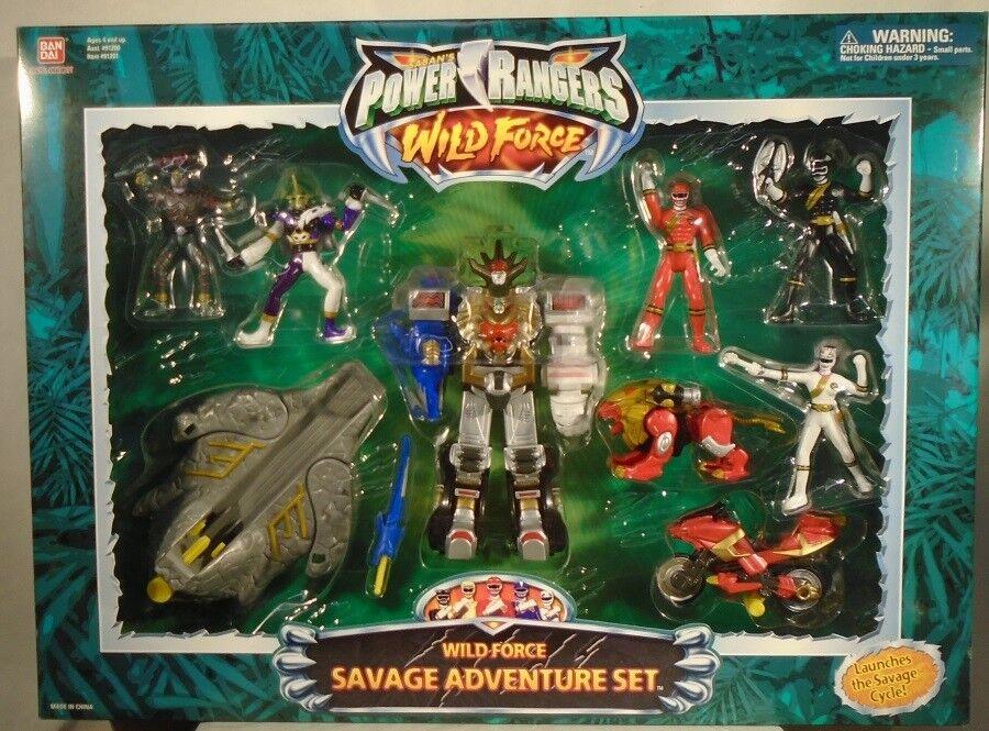 Energia Rangers Wild Force Savage Adventure Set 6   Megazord rosso Lion Zord Jindrax  fino al 50% di sconto